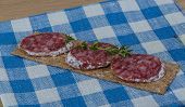 Crispbread With Salami