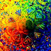 image of peppy  - Colorful digital abstract grunge background - JPG