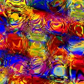 Abstract colorful digital water effect. Digitally generated image. Background for design artworks.