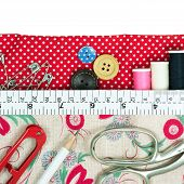 Sewing Kit With Fabric Bag