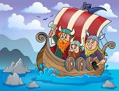 foto of viking ship  - Viking ship theme image 2  - JPG