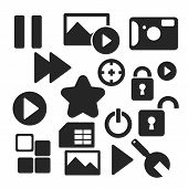 Set Of Web And Mobile Icons. Vector.