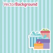 Vector decorative Background with Boxes.