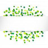 Vector illustration with green confetti celebration background