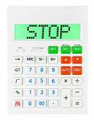 Calculator With Stop
