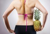 Fit concept with pineapple