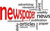 word cloud - newspaper