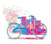 Cute Card With Bike.