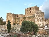 picture of crusader  - The ancient crusader ruins on the Lebanese coast - JPG