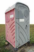 Plastic Pink Toilet