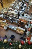 Christmas Cafe In Hypermarket