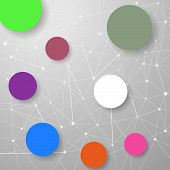picture of nod  - Modern connection modeling background with circles for infographics and information structuring - JPG