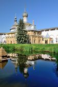 Christian beautiful church with specular reflection.