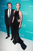 LOS ANGELES - FEB 17:  Johnny Hallyday, Laeticia Hallyday at the 17th Costume Designers Guild Awards at a Beverly Hilton Hotel on February 17, 2015 in Beverly Hills, CA
