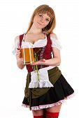 Oktoberfest beautiful girl with beer