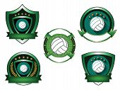 Illustration of Volleyball logo set