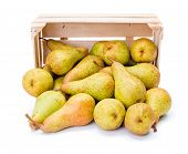 Spilled Pears From Wooden Crate