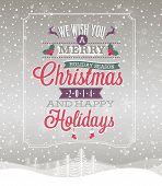 Christmas Vintage Poster.+-