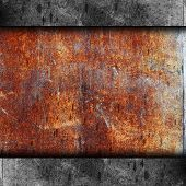 stock photo of dirty  - rusty metal background texture iron old rust grunge steel metallic dirty brown wall - JPG