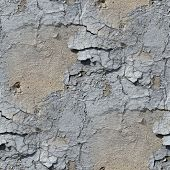 seamless texture of old stone wall with crack