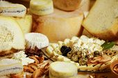 Assortmentof Organic Gourmet Cheeses