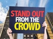 picture of differential  - Stand Out From the Crowd card with urban background - JPG