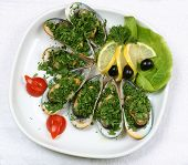 Oysters With Lemon And Tomatoes