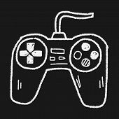 pic of controller  - Game Controller Doodle - JPG