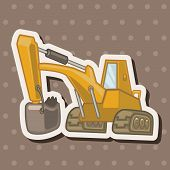 pic of excavator  - Transportation Excavator Truck Theme Elements - JPG