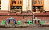 image of yangon  - Coffee shop on the street in Yangon Myanmar - JPG
