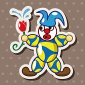 image of circus clown  - Circus Clown Theme Elements - JPG