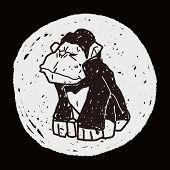 foto of orangutan  - Orangutan Monkey Doodle - JPG