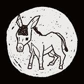stock photo of donkey  - Donkey Doodle - JPG