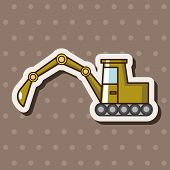 picture of excavator  - Transportation Excavator Truck Theme Elements - JPG
