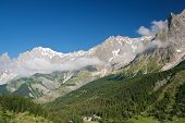 Ferret Valley And Mont Blanc