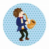 image of saxophone player  - Character Musician Saxophone  Theme Elements - JPG