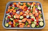 foto of butternut  - Chopped raw vegetables  - JPG
