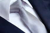 pic of coat tie  - Male jacket with shirt and tie close up - JPG