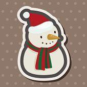 pic of snowman  - Snowman Cartoon Theme Elements - JPG