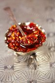 picture of chillies  - Extreme hot asian chillies garlic sauce  - JPG