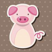 pic of chinese zodiac  - Chinese Zodiac Pig Theme Elements - JPG