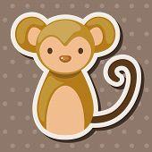 picture of chinese zodiac  - Chinese Zodiac Monkey Theme Elements - JPG
