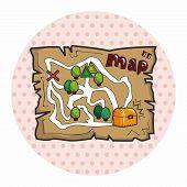 foto of treasure map  - Treasure Map Theme Elements - JPG