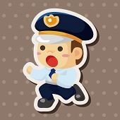 image of policeman  - Policeman Theme Elements - JPG