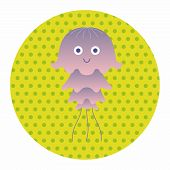 stock photo of jellyfish  - Jellyfish Theme Elements - JPG