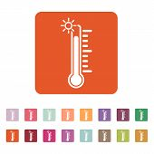 picture of temperature  - The thermometer icon - JPG