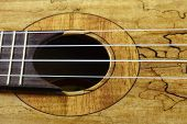 stock photo of ukulele  - Ukulele hawaiian guitar isolated on white background - JPG