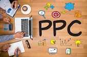 Ppc - Pay Per Click Concept poster
