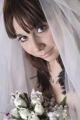 Bridal Portrait Looking At Camera