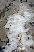 Dead Sea Salt And Rocks Texture